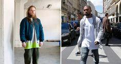 Sasu Kauppi (vas.) ja Kanye West, muotiprojektin partnerit.