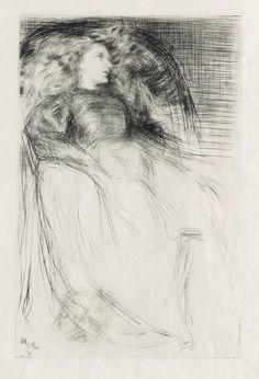 "James A.M. Whistler, ""Weary,"" 1863, drypoint on japan paper"