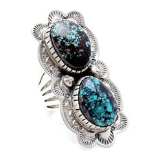 Aponi Turquoise Ring created by Navajo artist Ella Peter - Child of Wild  - 1