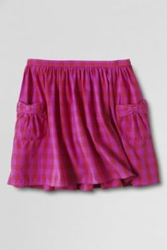 Girls 12-14 in pink and blue. $9.97!Girls' Woven Tie Pocket Skort from Lands' End