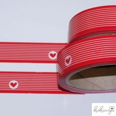 33m / 2,5cm breit Klebeband Stripe rot/weiss KK-RS