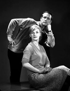 Paul Newman & Joanne Woodward.....Uploaded By  www.1stand2ndtimearound.etsy.com