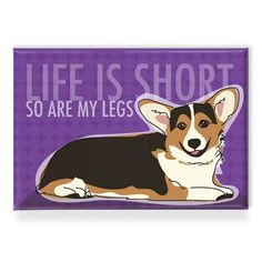 My design inspiration: Tri Color Corgi Magnet on Fab.