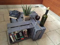 Rustic up-cycled wooden crate coffee table by upcycledcrates