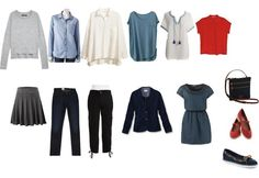Transitional Weather Capsule Wardrobe 6 tops + 3 bottoms + 1 dress
