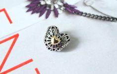 Pandora Vintage Heart Charm - The Black Pearl Blog