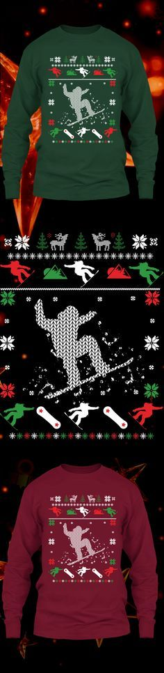 Snowboarding Christmas Sweater - Get this limited edition ugly Christmas Sweater just in time for the holidays! Only 2 days left for FREE SHIPPING, click to buy now!