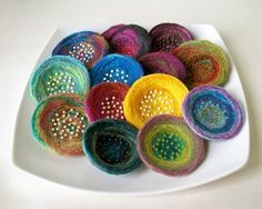 felted pins