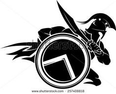 Wall Vinyl Decal Spartan Warrior With Shield And Sword Sparta Home Interior Unique Gift Spartan Logo, Spartan Tattoo, Spartan Helmet, Spartan Warrior, Spartan 300, Body Art Tattoos, Tatoos, Greek Warrior, Warrior Tattoos