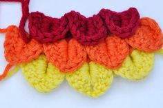video on how to do crochet crocodile stitch