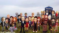 I guess its time for another group photo with #thirteenthdoctor #jodiewhittaker #doctorwho #doctorwhodolls #craftyiscool #crochet