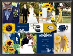 navy blue + yellow. this would have been my color palette in a heartbeat had i actually had a summer wedding. #wedding