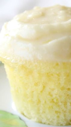 Cloud Like Lemon Cupcakes Recipe ~ The cake's texture resembles that of a cloud, irresistibly soft and puffy. The dough contains a subtle tanginess from the lemon juice and zest, complemented perfectly by the decadent cream cheese frosting. #cupcakerecipes