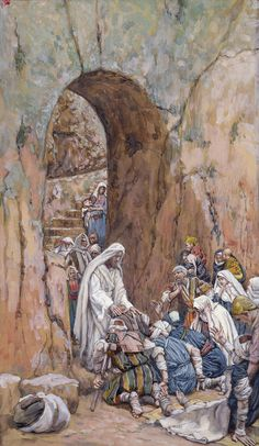 He did no Miracles Save that He Healed Them by James Tissot {c.1884-96} ~ Jesus