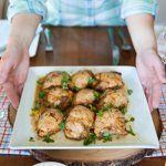 Honey & Chili Chicken Thighs with Creamy Cilantro Sauce