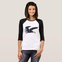 Grey Heron Women's Raglan Tee - animal gift ideas animals and pets diy customize