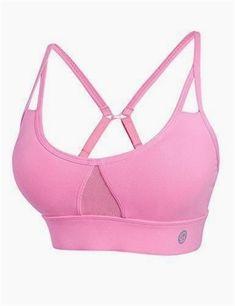 8653fb502d ALBREDA Women Yoga bra Sports Bra Running Fitness Gym bras female Straps  Padded Crop Top Underwear Athletic Segment dyeing Vest Price  15.73   FRE…