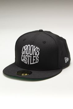 Crooks and Castles League New Era Fitted Hat Black/White