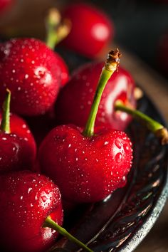 Raw Organic Red Cherries by Brent Hofacker - Photo 111881217 - Fruit And Veg, Fruits And Veggies, Fresh Fruit, Vegetables, Cerise Fruit, Photo Fruit, Fruits Photos, 30 Minute Dinners, Fruit Photography