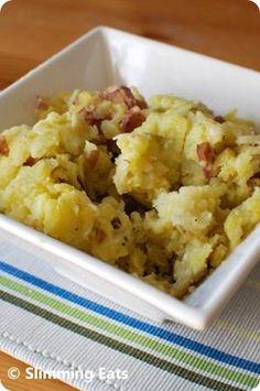 Rustic Garlic and Parmesan Mashed Potatoes | Slimming Eats - Slimming World Recipes