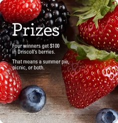 Sweetest Berry Sweepstakes - ends 7/31 - daily entries