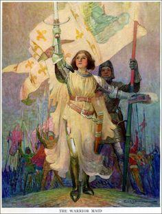 """Art by Frank Schoonover (1919) - """"Joan of Arc."""""""