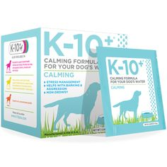 K-10+ Water Soluble Calming formula for dogs is recommended for those dogs that are exposed to increased environmental stressors.  When dogs cannot adapt to stress, it can lead to anxiety, nervousness, hyperactivity, frayed nerves, excess barking, abnormal urine marking, trembling or shivering and destructive or aggressive behavior. Our K-10+ Water Soluble Calming Formula is for dogs exhibiting nervousness, hyperactivity, anxiety or responding to environmentally induced stress.