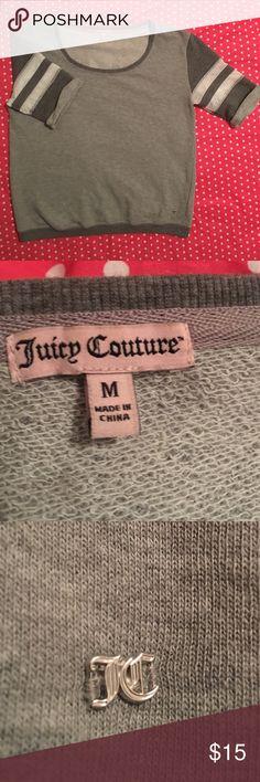 Women's Juicy Couture Sweat Shirt Juicy Couture sweatshirt with flare and glitter! Juicy Couture Tops Sweatshirts & Hoodies