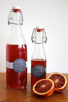 A Less Processed Life: Made From Scratch: Blood Orange Simple Syrup, Two Ways