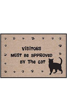 Amazon.com: Interesting Finds.  Visitors front door mat #cat products