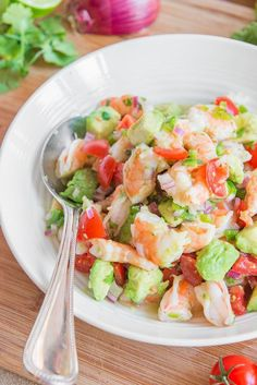 Zesty Lime Shrimp and Avocado Salad from Gina Homolka's Skinnytaste Fast and Slow Cookbook