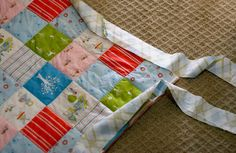 A very step by step tutorial about how to put edging on a quilt.