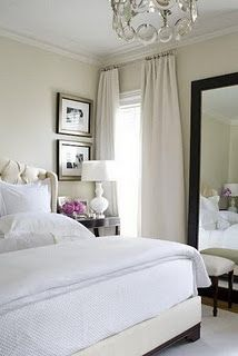 I love the bedroom window treatments