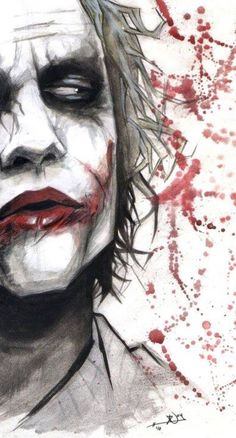 Joker - OK so not part of the Marvel universe, but I don't care. I always loved the Joker. Der Joker, Heath Ledger Joker, Joker Art, Character Drawing, Comic Character, Comic Books Art, Comic Art, Héros Dc Comics, Joker Kunst