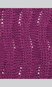 combination of the patent pattern and garter stitch ...