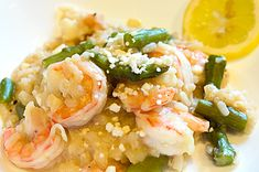 Shrimp and Asparagus Risotto with Lemon