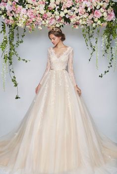 Blooming Romantic Pretty in Floral Floral Wedding Dresses