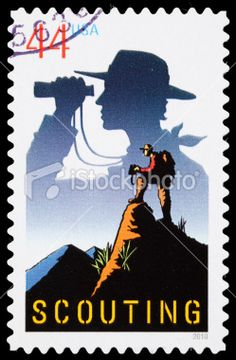 USA Scouting postage stamp Royalty Free Stock Photo
