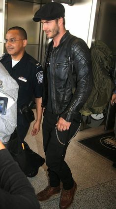 All Time David Beckham Fashion Accessory- A Leather Jacket! | Celebrity Wear Leather Jackets