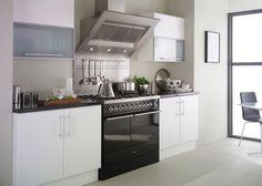 kitchen, Small Kitchen Interior Minimalist Ideas Black And White Kitchen Design Ideas Black And White Kitchen Cabinet White Ceramic Tile Flo...