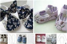 Resultado de imagem para zapatos de bebe en tela