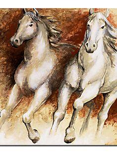 animal print caballos lienzo con marco de estirado – MXN $ 676.23