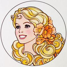 Peaches 'n Cream Barbie Illustration