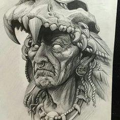 Tribos Tattoo Design Drawings, Tattoo Sketches, Art Sketches, Art Drawings, Tattoo Designs, Indian Skull Tattoos, Mexican Art Tattoos, Graffiti Tattoo, Body Art Tattoos