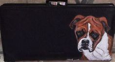 Boxer Dog Custom Painted Ladies Leather by daniellesoriginals, $30.95