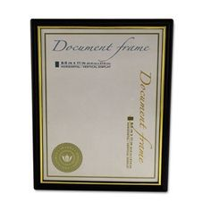 NEW - Plastic Easy Mount Frame for 8 1/2 x 11 Insert, 3/Pack, Black - 76849 by Universal Office Products. $19.33. 10738. Economical black frame with gold highlights gives awards and certificates a professional appearance. Hangs vertically or horizontally. Frame Type: Document; Frame Material: Plastic; Frame Color: Black/Gold Accent; Height: 11 in.
