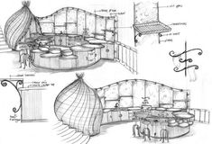 Sharma Springs Residence, Furniture - IBUKU - The Concept of the Eco-city Biomimicry Architecture, Conceptual Architecture, Architecture Concept Diagram, Architecture Plan, Interior Architecture, Best Office, Conceptual Sketches, Pavilion Design, Interior Design Sketches