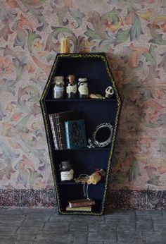 Miniature Vampire/Goth/Witch Bookcase Coffin by WeeLittleDelights, €18.00