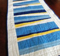 Shades of Blue Quilted Table Runner by homesewnbychristine on Etsy, $34.00