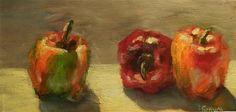 "Daily Paintworks - ""Late Summer Bells"" - Original Fine Art for Sale - © Lina Ferrara"